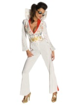 Womens Sexy Elvis Jumpsuit Costume