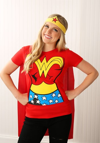 Wonder Woman T-Shirt Costume For Adults
