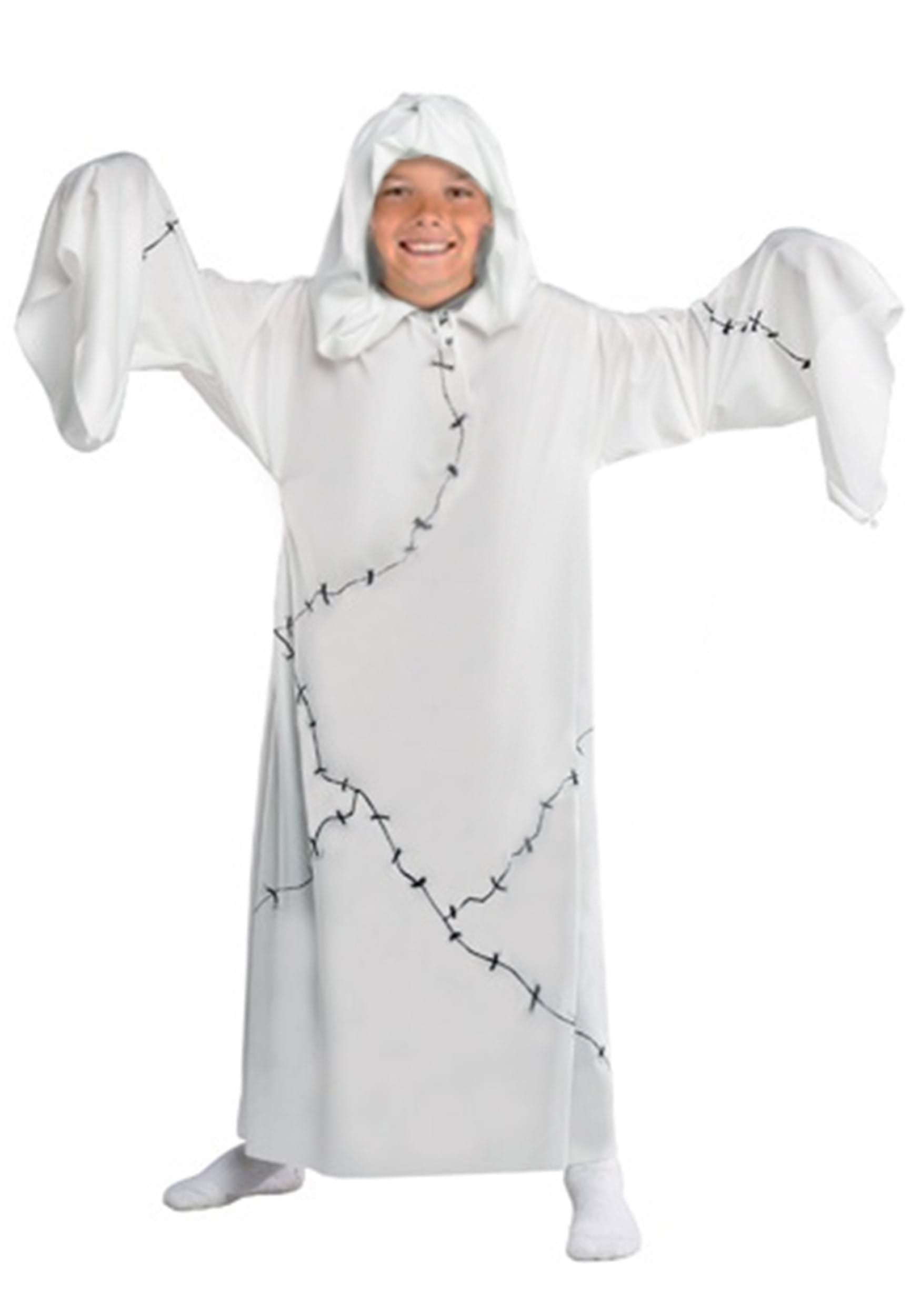 Kids Ghost Costume - Child Ghost Scary Halloween Costumes