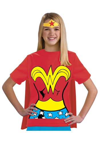 Wonder Woman T-Shirt Costume For Girls