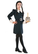 Girls Wednesday Addams Family Costume