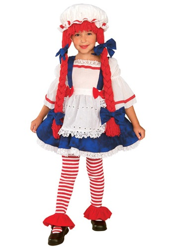 Girls Toddler Rag Doll Costume