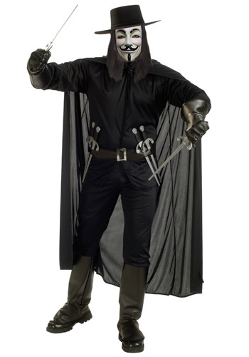 Mens V for Vendetta Movie Costume
