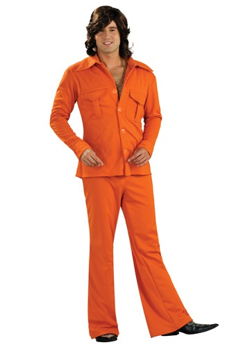 Adult Orange Leisure Suit